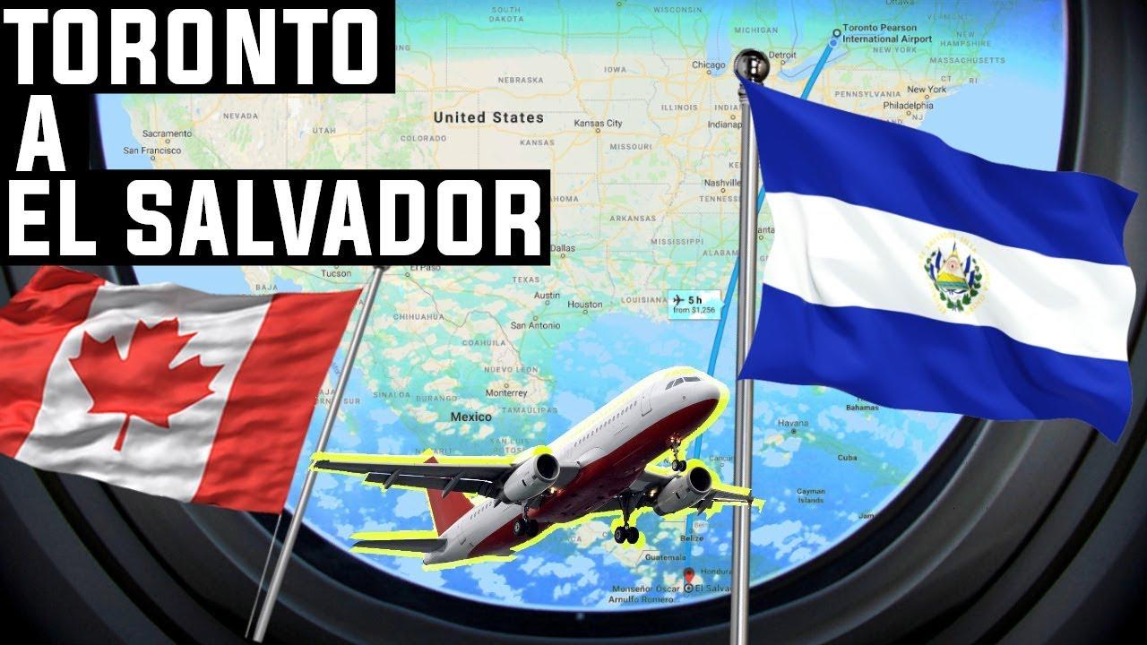 TIMELAPSE   Toronto, Canada hacia San Salvador, El Salvador - YouTube