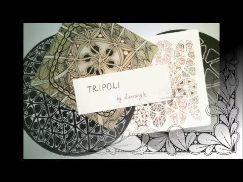 How to draw the Zentangle® Pattern TRIPOLI