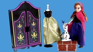 Princess Anna Mini Wardrobe Costume Set With Olaf Snowman Unboxing By Disneycollector