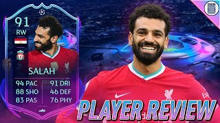 91 RTTF SALAH PLAYER REVIEW! ROAD TO THE FINAL PLAYER - FIFA 21 ULTIMATE TEAM