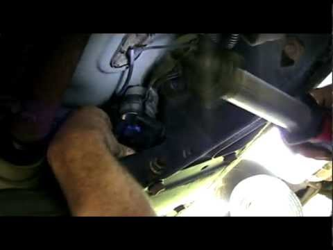 trailblazer fuel filter replacement   youtube