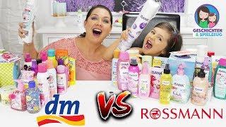 DM vs. ROSSMANN XXL Shoppen & Haul! Der große Produkt Vergleich! Geschichten und Spielzeug
