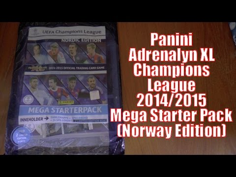 TWO LIMITED EDITIONS ! ⚽️ MEGA STARTER PACK ⚽️ Adrenalyn XL Champions League 2014-15 TCG