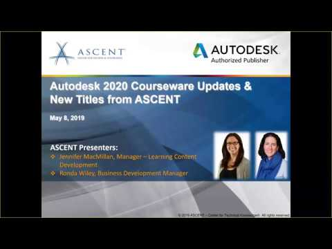 ASCENT Webcast: Autodesk 2020 Courseware Updates