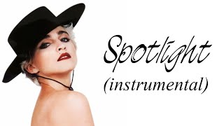 Madonna - Spotlight (Original Instrumental w/ lyrics)
