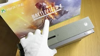 Xbox One S Battlefield 1 Special Edition Unboxing + Gameplay (1TB Bundle)