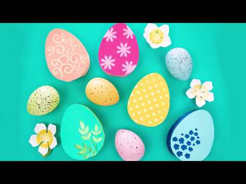How To Make 3D Paper Easter Eggs With Candy - Free Easter SVG Cut Files