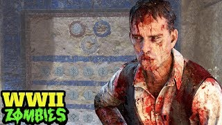 WW2 ZOMBIES: THE TORTURED PATH FULL EASTER EGG HUNT: SECRET WALL SOLVED! (COD WW2 Zombies DLC 3)
