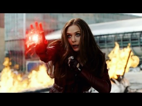 Scarlet Witch Fight Moves Compilation - Captain America Civil War HD