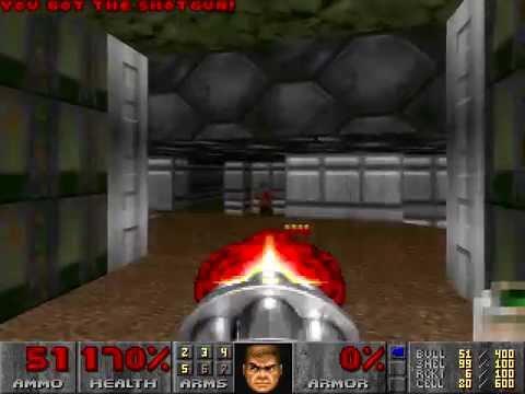 Ultimate Doom 95 - Playtrough - Knee-Deep in the Dead (100% Secrets)