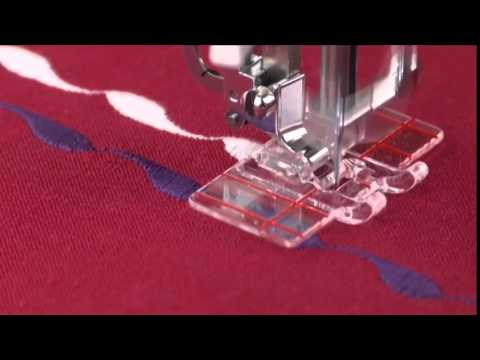 Singer Parallel Stitch Presser Foot Tutorial Youtube