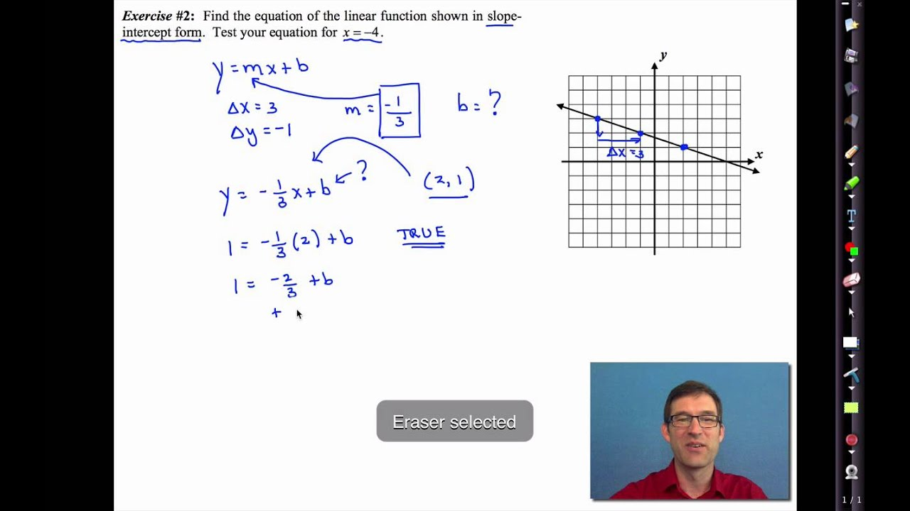 small resolution of Common Core Algebra I.Unit #4.Lesson #5.Writing Equations of Lines - YouTube