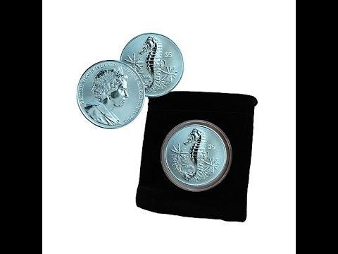 2014 BVI $5 Seahorse TurquoiseColored Titanium Coin