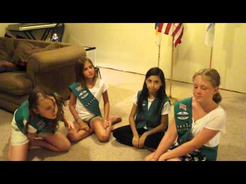Girl Scout hand signals, handshake, promise and law