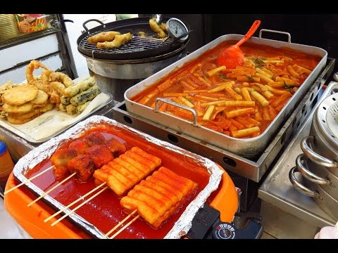 Korean Street Food - Street Food in Busan, Korea: Very Delicious !