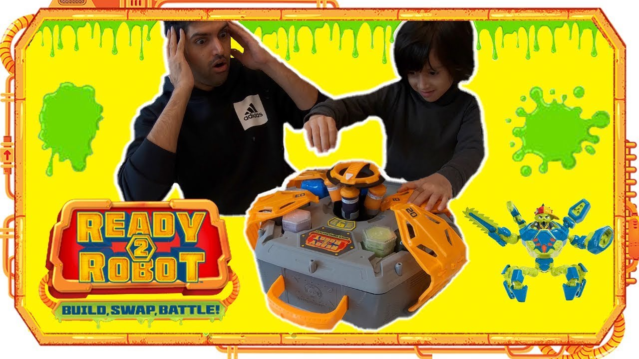 Big Slime Battle with 10 Battle Weapons Ready2Robot Hidden Chambers /& 40