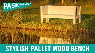 Stylish Pallet Wood Bench