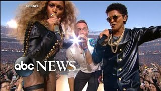 SUPER BOWL HALFTIME SHOW | Beyonce, Coldplay, Bruno Mars Rock Super Bowl 50
