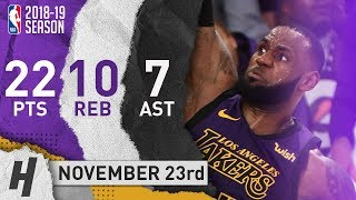LeBron James Full Highlights Lakers vs Jazz 2018.11.23 - 22 Pts, 7 Ast, 10 Rebounds!