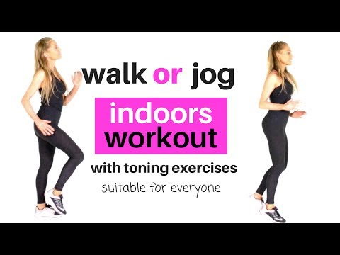 HOME WORKOUT FOR WOMEN - WALK AT HOME OR JOG - Full Body Toning, Weight Loss ideal for beginners