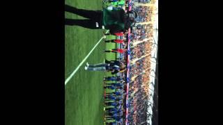 Sylvia Kalivitis sings National Anthem @ Avaya Stadium 5.16.15