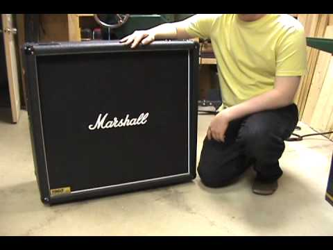 Alexander James - Marshall 1960 B 4x12 Speaker cabinet impedance ...