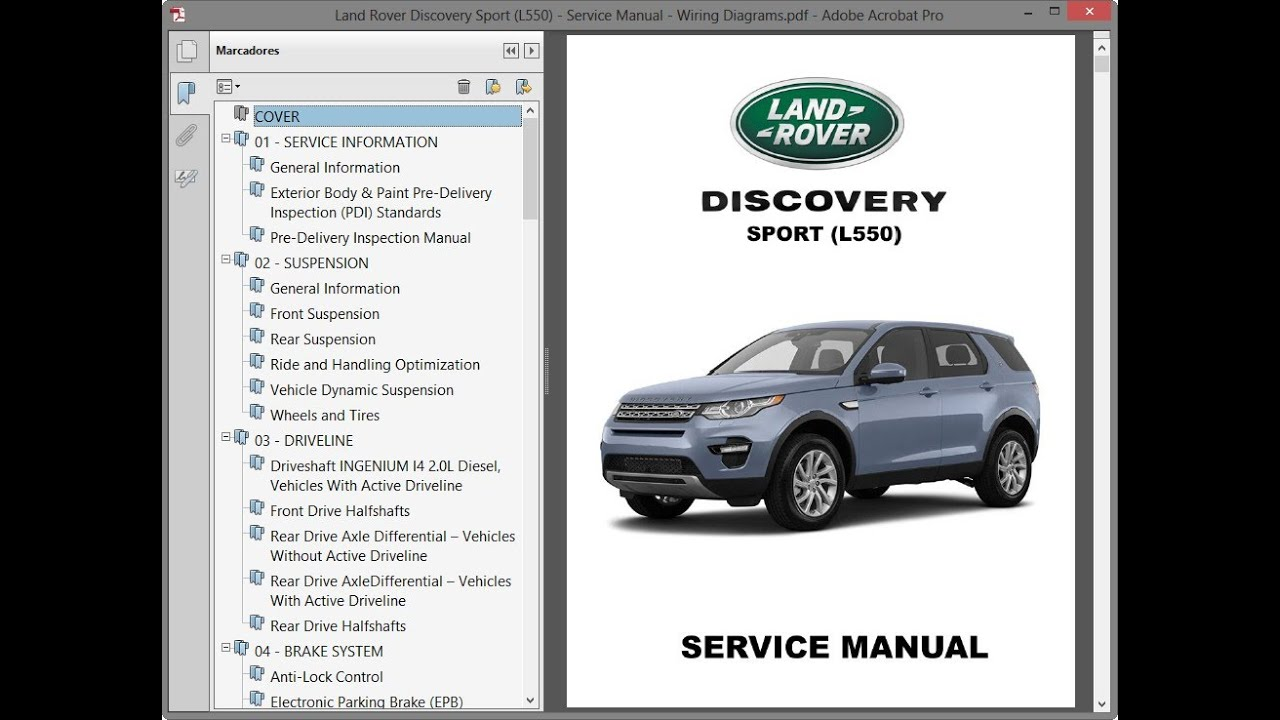 land rover wiring diagram key land rover discovery sport  l550  service manual repair manual  land rover discovery sport  l550