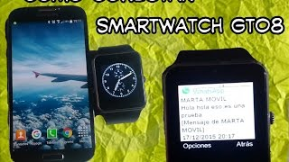 ♍Como recibir whatsapp en smartwatch gt08 español | How to use smartwatch gt08