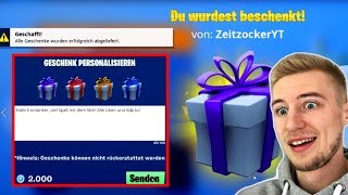 I give SKIN to 12 year olds and i get a gift! SKINS GIFT! Fortnite Battle Royale