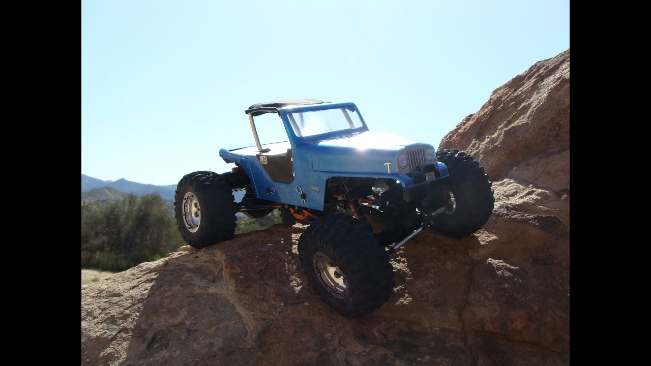 Blue Jeep Cj Axial Ax10 Scale Rock Crawler Body Mod Soft
