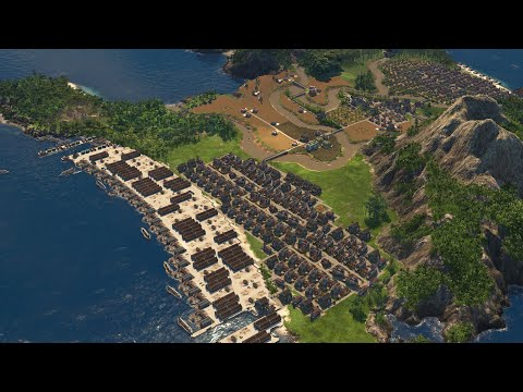 Anno 1800 ~ For Fun ~ Ships at a New World depot ~ Just relaxing a bit. |