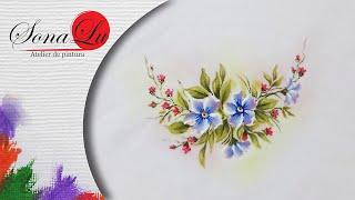 Lenço com Flores – Sonalupinturas