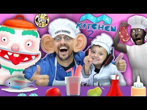 TOCA KITCHEN 2 - Cooking Up Fun (FGTEEV CHEF DUDDY & SHAWN)