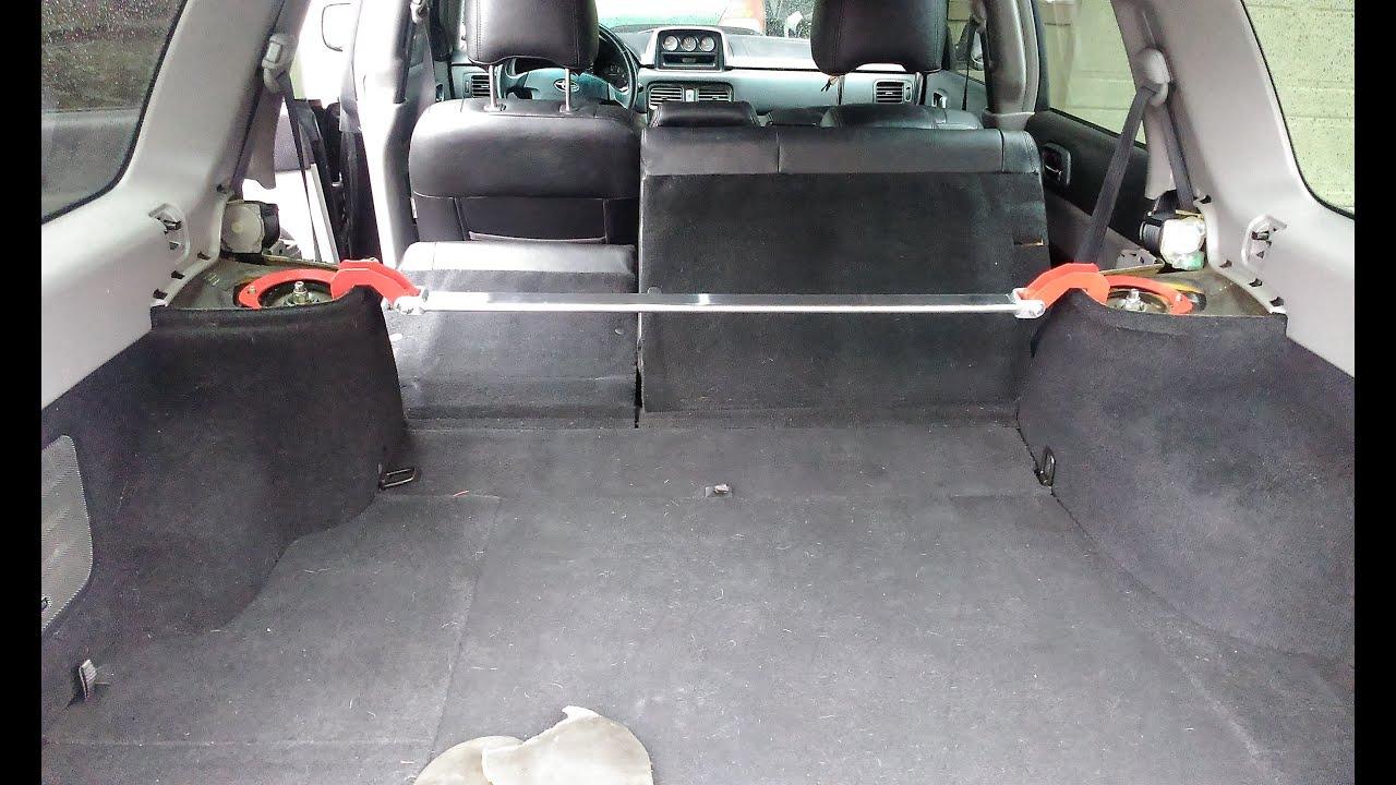04 Subaru Forester XT rear strut bar install on the cheap!