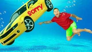 I Sunk His Car And SURPRISED Him With A New ONE (Car Underwater)