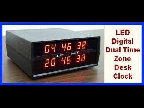 Ck 2 Dual Timezone Clock Electronics Usa