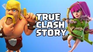 Clash Of Clans - BARBARIAN AND ARCHER SECRET TALK! - TRUE CLASH STORY