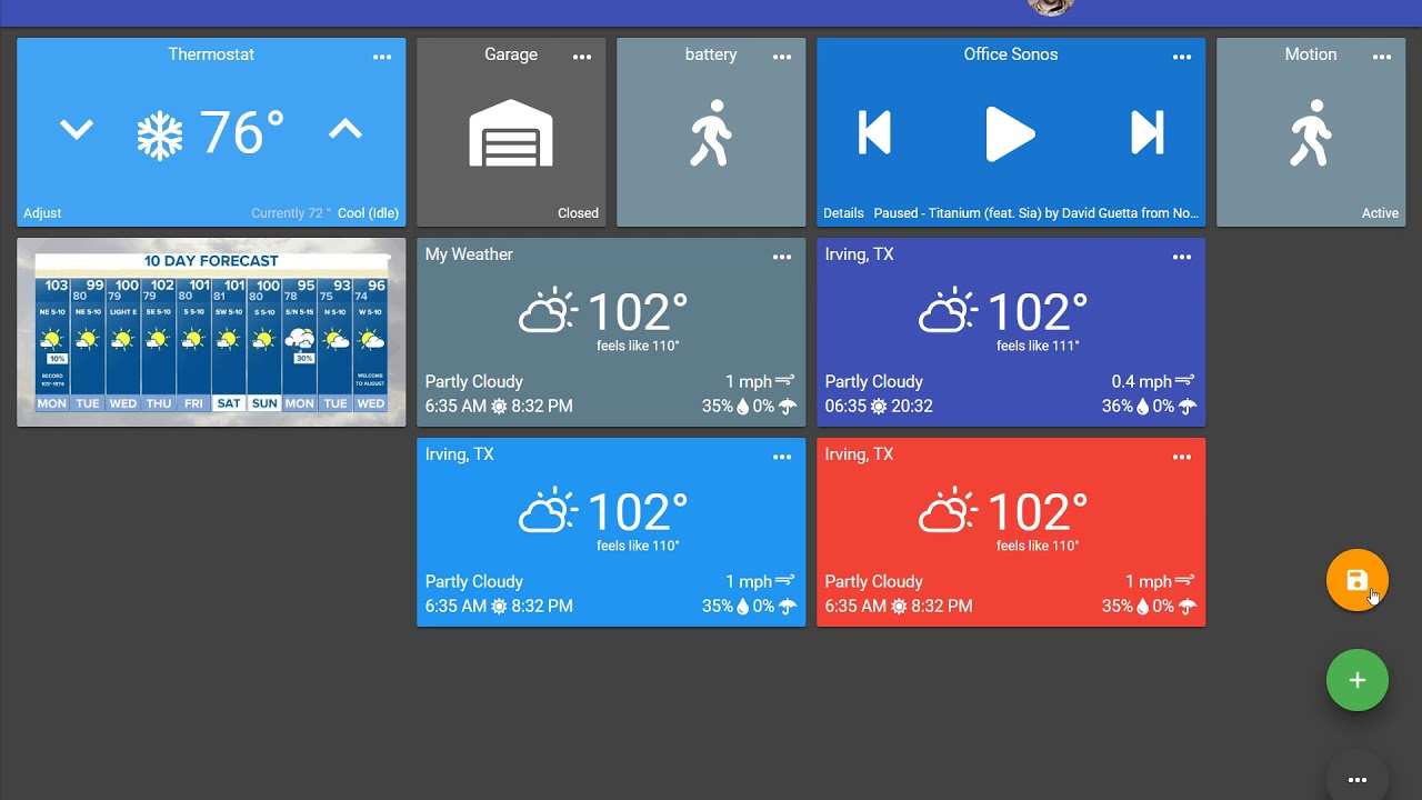 Music, Weather, Spacer, and Media Tile Updates | SharpTools io