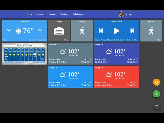 ActionTiles SmartThings custom web dashboard maker viewer for FireOS