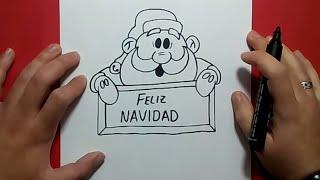 Como dibujar a papa noel paso a paso 6 | How to draw Santa Claus 6