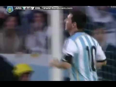 Gol de Lionel Messi Argentina vs Slovenia (2-0) 07/06/2014