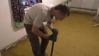 як зробити підлоги в будинку відео з нуля