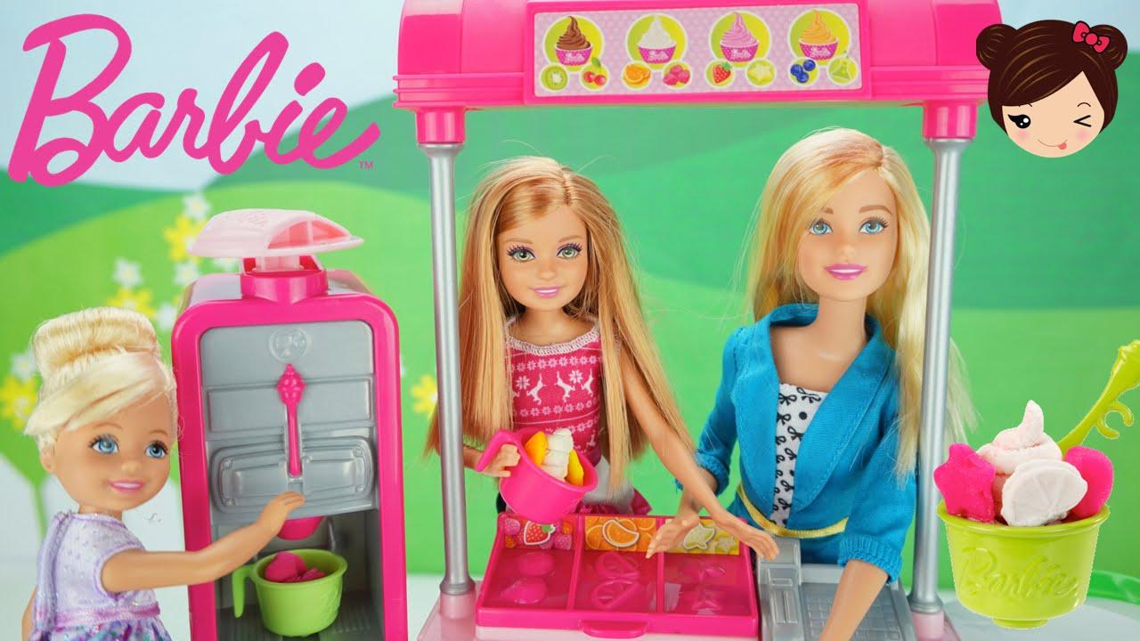 Barbie Heladeria De Yogurt Con Play Doh Juegos Serie De Muneca