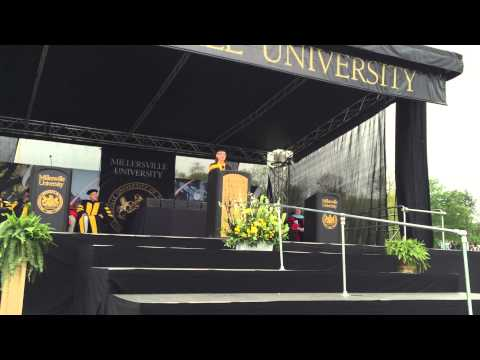 Kim Lemon delivers the 2015 Commencement Address at Millersville University on May 9, 2015