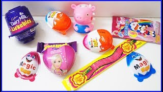 Kinder Joy Surprise Eggs Cadbury Dairy Milk Lickables Barbie Egg Other Chocolates  Learn Colors Kids thumbnail