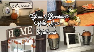Clean & Decorate With Me For Fall 2018 | Farmhouse Fall Decor | Fall 2018 | Daisy Hearts