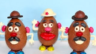 Chocolate Easter Egg MR POTATO HEADS! | How to DIY you Easter Eggs | My Cupcake Addiction