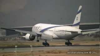 Upgraded el al airlines boeing 777-200 arriving from tel aviv int'l just on time in a very warm morning.join us facebook : https://www.facebook.com/avione...