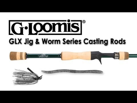G. Loomis GLX Jig & Worm Series Casting Rods