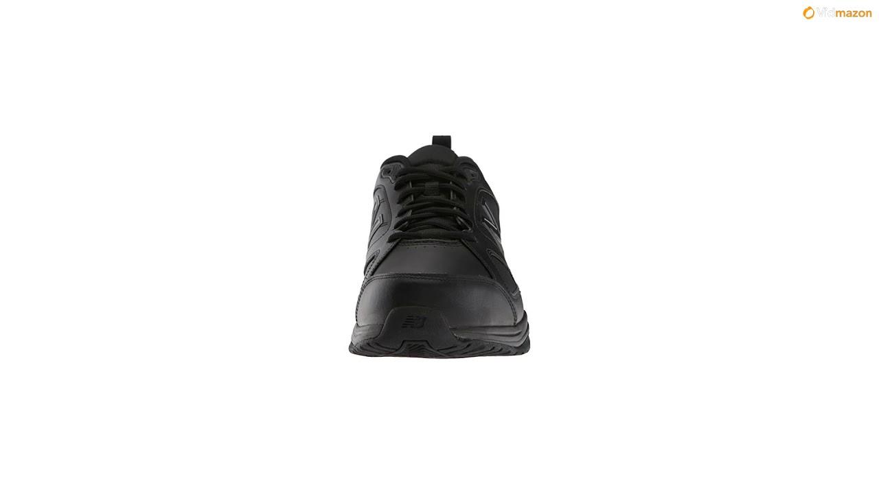 2df9047d0dc16 New Balance Men's MX623v3 Casual Comfort Training Shoe, Black Leather, 11.5  D US